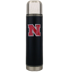 "Nebraska Cornhuskers Thermos - Nebraska Cornhuskers 11"" tall executive thermos with a fully cast and enameled school emblem. Thank you for shopping with CrazedOutSports.com"