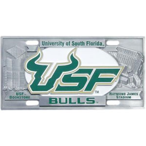 "MLB License Plate - S. Florida Bulls - Our collegiate license plates feature exceptional 3D carved zinc with a hand enameled finish. Made for your automobile but also great to display at work or home. 11 3/4"" X 5 13/16"" Thank you for shopping with CrazedOutSports.com"