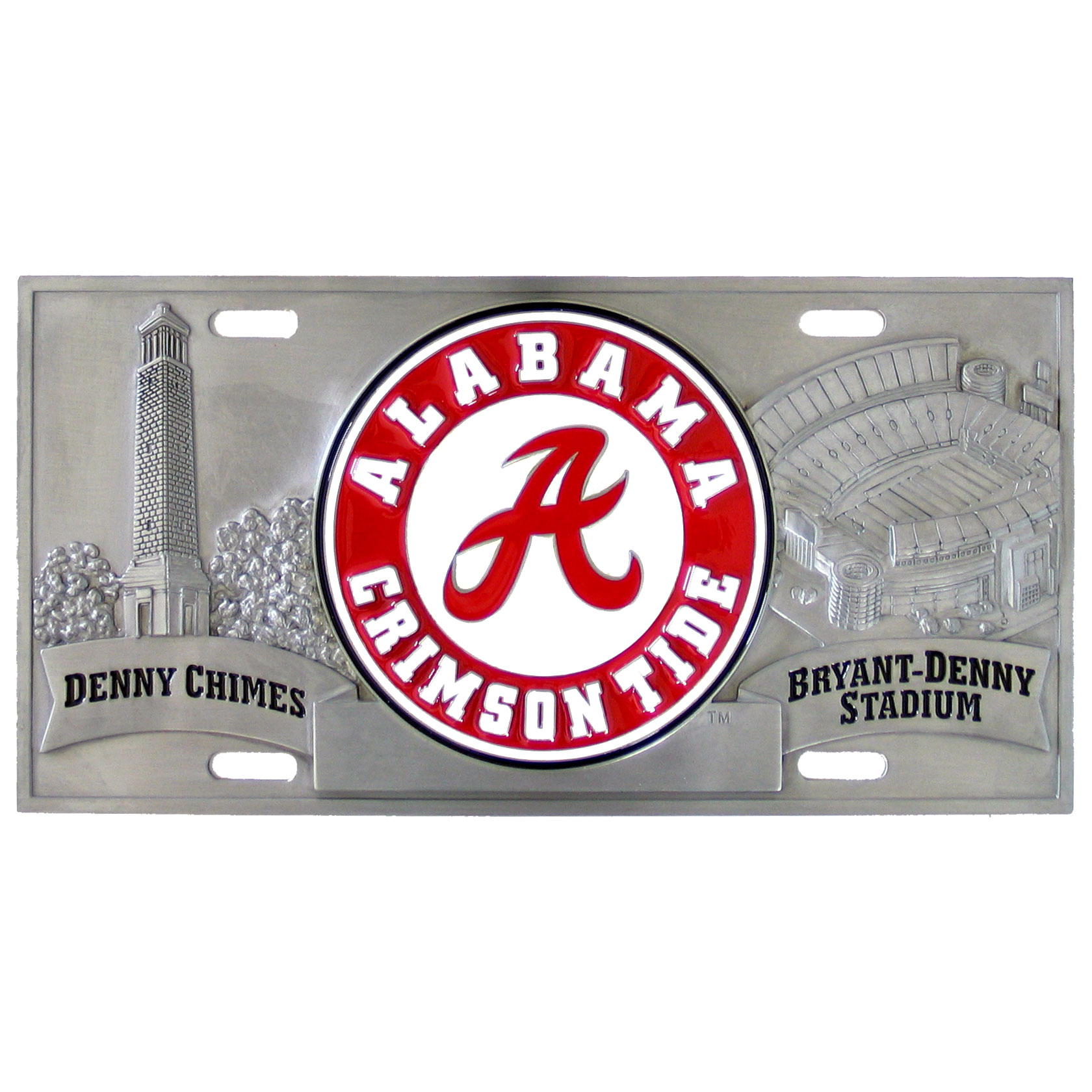 "College License Plate - Alabama Crimson Tide - Alabama Crimson Tide three dimensional license plate. Made for your automobile but also great to display at work or home. 11 3/4"" X 5 13/16"" Thank you for shopping with CrazedOutSports.com"