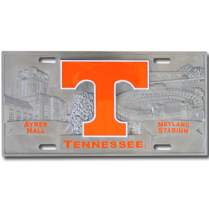 "Tennessee- 3D License Plate - Tennessee Volunteers three dimension license plate. Made for your automobile but also great to display at work or home. 11 3/4"" X 5 13/16 Thank you for shopping with CrazedOutSports.com"