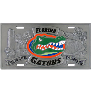 "Florida Gators - 3D License Plate - Gators three dimensional license plate. Made for your automobile but also great to display at work or home. 11 3/4"" X 5 13/16"" Thank you for shopping with CrazedOutSports.com"