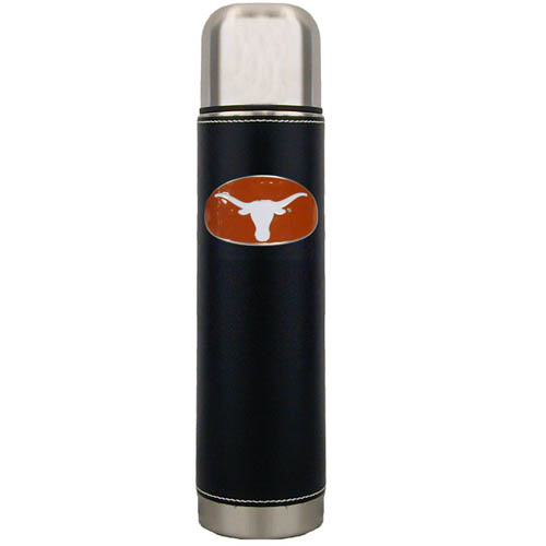 Texas Thermos - Keep your drinks piping hot for the big game with our collegiate thermos featuring a cast & enameled Texas Longhorns emblem. Thank you for shopping with CrazedOutSports.com