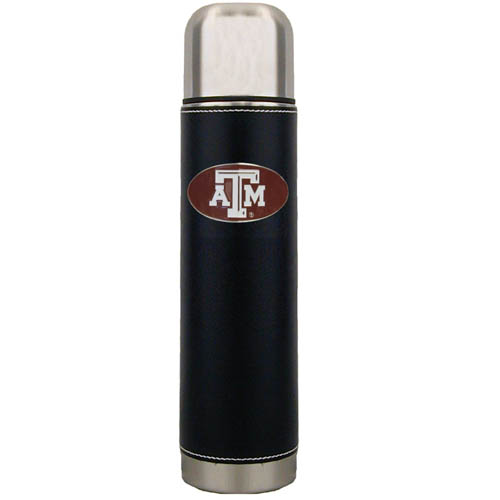 Texas A and M  Thermos - Keep your drinks piping hot for the big game with our collegiate thermos featuring a cast & enameled Texas A & M Aggies emblem. Thank you for shopping with CrazedOutSports.com
