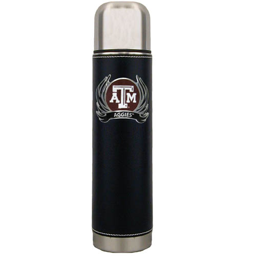Texas AandM Flame Thermos - Keep your drinks piping hot for the big game with our collegiate thermos featuring a cast & enameled Texas A & M Aggies emblem. Thank you for shopping with CrazedOutSports.com