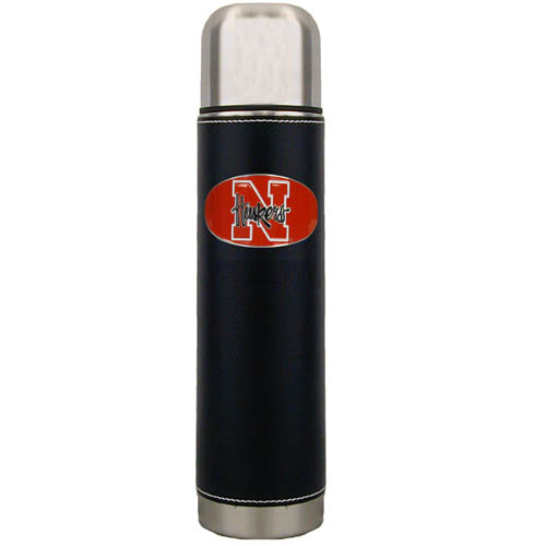 Nebraska Thermos - Keep your drinks piping hot for the big game with our collegiate thermos featuring a cast & enameled Nebraska Cornhuskers emblem. Thank you for shopping with CrazedOutSports.com