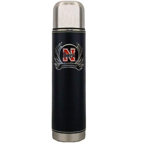 Nebraska Flame Thermos - Keep your drinks piping hot for the big game with our collegiate thermos featuring a cast & enameled Nebraska Cornhuskers emblem. Thank you for shopping with CrazedOutSports.com
