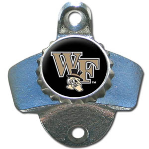 Wall Bottle Opener - Wake Forest Demon Deacons - Our sturdy wall mounted bottle opener is a great addition for your deck, garage or bar to show off your school spirit. Thank you for shopping with CrazedOutSports.com
