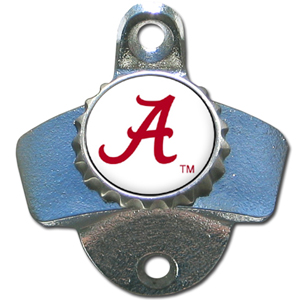 Wall Bottle Opener - Alabama Crimson Tide - Our Alabama Crimson Tide sturdy wall mounted bottle opener is a great addition for your deck, garage or bar to show off your school spirit. Thank you for shopping with CrazedOutSports.com