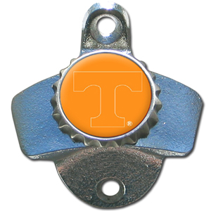 Wall Bottle Opener - Tennessee Volunteers - Our sturdy wall mounted bottle opener is a great addition for your deck, garage or bar to show off your school spirit. Thank you for shopping with CrazedOutSports.com
