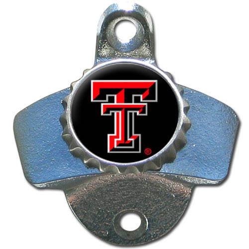 Wall Bottle Opener - Texas Tech Raiders - Our sturdy wall mounted bottle opener is a great addition for your deck, garage or bar to show off your school spirit. Thank you for shopping with CrazedOutSports.com
