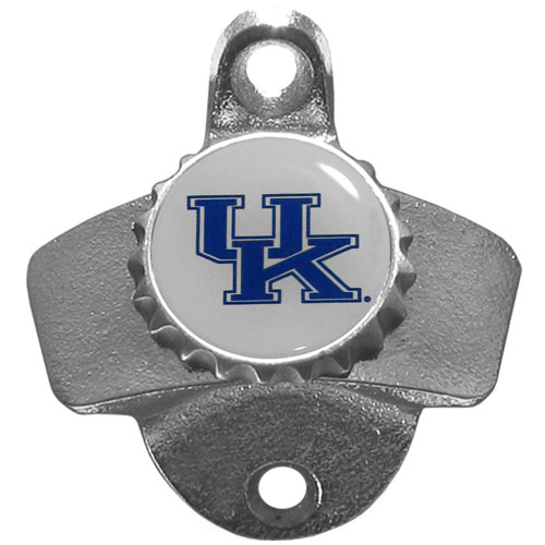 Wall Bottle Opener - Kentucky Wildcats - Our sturdy wall mounted bottle opener is a great addition for your deck, garage or bar to show off your school spirit. Thank you for shopping with CrazedOutSports.com