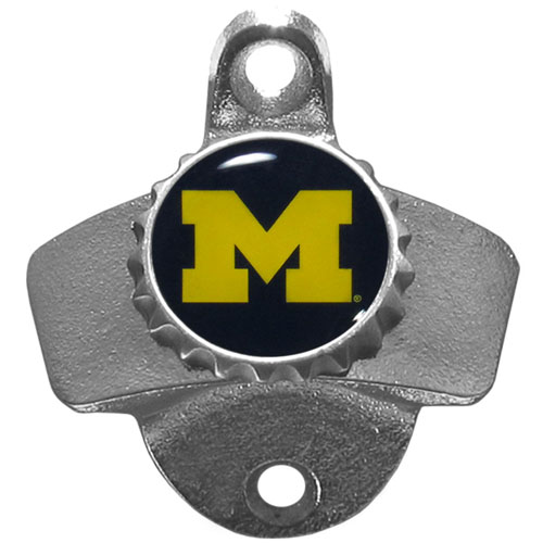 Michigan Wolverines Wall Mount Bottle Opener - This sturdy Michigan Wolverines Wall Mount Bottle Opener is a great addition for your deck, garage or bar. Michigan Wolverines Wall Mount Bottle Openeris a great way to show off your school spirit. Thank you for shopping with CrazedOutSports.com