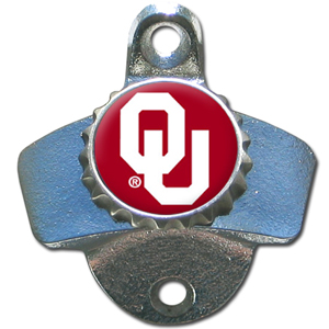 Wall Bottle Opener - Oklahoma Sooners - Our sturdy wall mounted bottle opener is a great addition for your deck, garage or bar to show off your school spirit. Thank you for shopping with CrazedOutSports.com