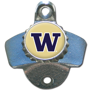 Wall Bottle Opener - Washington Huskies - Our sturdy wall mounted bottle opener is a great addition for your deck, garage or bar to show off your school spirit. Thank you for shopping with CrazedOutSports.com