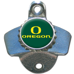 Wall Bottle Opener - Oregon Ducks - Our sturdy wall mounted bottle opener is a great addition for your deck, garage or bar to show off your school spirit. Thank you for shopping with CrazedOutSports.com