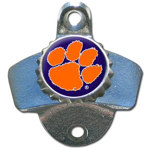 Wall Bottle Opener - Clemson Tigers - Our sturdy wall mounted bottle opener is a great addition for your deck, garage or bar to show off your Clemson Tigers school spirit. Thank you for shopping with CrazedOutSports.com