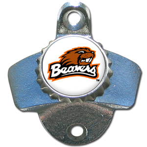 Wall Bottle Opener - Oregon St. Beavers - Our sturdy wall mounted bottle opener is a great addition for your deck, garage or bar to show off your school spirit. Thank you for shopping with CrazedOutSports.com