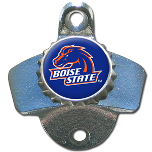 Wall Bottle Opener - Boise St. Broncos - Our sturdy wall mounted bottle opener is a great addition for your deck, garage or bar to show off your Boise State Broncos spirit. Thank you for shopping with CrazedOutSports.com