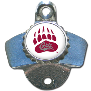 Wall Bottle Opener - Montana Grizzlies - Our sturdy wall mounted bottle opener is a great addition for your deck, garage or bar to show off your school spirit. Thank you for shopping with CrazedOutSports.com