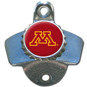 Minnesota Golden Gophers Wall Bottle Opener - A sturdy wall mounted Minnesota Golden Gophers Wall Bottle Opener is a great addition for your deck, garage or bar to show off your school spirit. Thank you for shopping with CrazedOutSports.com