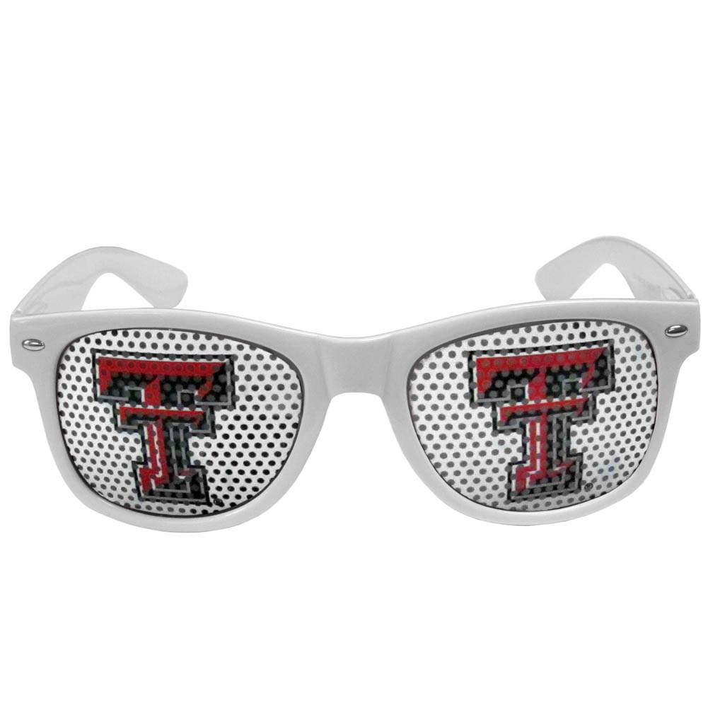 Texas Tech Raiders Game Day Shades - Our officially licensed game day shades are the perfect accessory for the devoted Texas Tech Raiders fan! The sunglasses have durable polycarbonate frames with flex hinges for comfort and damage resistance. The lenses feature brightly colored team clings that are perforated for visibility.