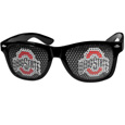 Ohio St. Buckeyes Game Day Shades - Our officially licensed college game day shades are the perfect accessory for the devoted Ohio St. Buckeyes fan! The sunglasses have durable polycarbonate frames with flex hinges for comfort and damage resistance. The lenses feature brightly colored team clings that are perforated for visibility. Thank you for shopping with CrazedOutSports.com