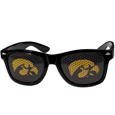 Iowa Hawkeyes Game Day Shades - Our officially licensed college game Iowa Hawkeyes day shades are the perfect accessory for the devoted Iowa Hawkeyes fan! The sunglasses have durable polycarbonate frames with flex hinges for comfort and damage resistance. The lenses feature brightly colored team clings that are perforated for visibility. Thank you for shopping with CrazedOutSports.com