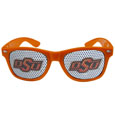 Oklahoma St. Cowboys Game Day Shades - Our officially licensed college game day shades are the perfect accessory for the devoted Oklahoma St. Cowboys! The sunglasses have durable polycarbonate frames with flex hinges for comfort and damage resistance. The lenses feature brightly colored team clings that are perforated for visibility. Thank you for shopping with CrazedOutSports.com