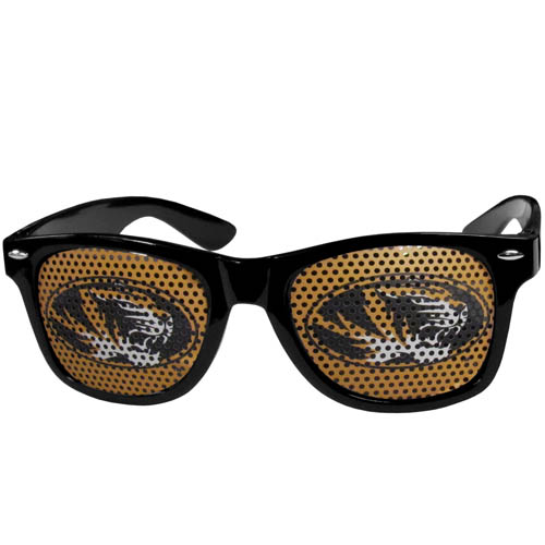 Missouri Tigers Game Day s - Our officially licensed college game day s are the perfect accessory for the devoted Arkansas Razorbacks fan! The sunglasses have durable polycarbonate frames with flex hinges for comfort and damage resistance. The lenses feature brightly colored team clings that are perforated for visibility. Thank you for shopping with CrazedOutSports.com