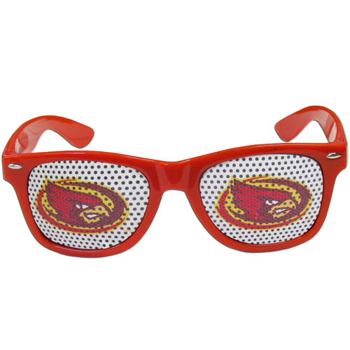 Iowa St. Cyclones Game Day s - Our officially licensed Iowa St. Cyclones college game day s are the perfect accessory for the devoted Iowa St. Cyclones fan! The sunglasses have durable polycarbonate frames with flex hinges for comfort and damage resistance. The lenses feature brightly colored team clings that are perforated for visibility. Thank you for shopping with CrazedOutSports.com