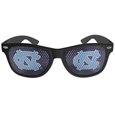 N. Carolina Tar Heels Game Day Shades - Our officially licensed college game day shades are the perfect accessory for the devoted N. Carolina Tar Heels fan! The sunglasses have durable polycarbonate frames with flex hinges for comfort and damage resistance. The lenses feature brightly colored team clings that are perforated for visibility. Thank you for shopping with CrazedOutSports.com