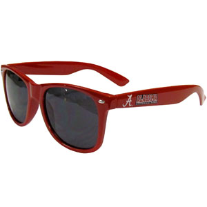 Alabama Crimson Tide Sunglasses - Our collegiate sunglasses feature the Alabama Crimson Tide school logo and name silk screened on the arm of these great retro glasses.  Thank you for shopping with CrazedOutSports.com