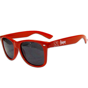 Nebraska  Sunglasses - Our collegiate  sunglass feature the school logo and name silk screened on the arm of these great retro glasses.  Thank you for shopping with CrazedOutSports.com