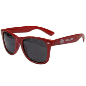 Ohio St.  Sunglasses - Our collegiate  sunglass feature the school logo and name silk screened on the arm of these great retro glasses.  Thank you for shopping with CrazedOutSports.com