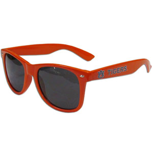 Auburn Tigers Beachfarer Sunglasses - Our college sunglass feature the Auburn Tigers team logo and name silk screened on the arm of these great retro glasses.  400 UVA protection. Thank you for shopping with CrazedOutSports.com