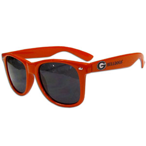 Georgia Bulldogs Beachfarer Sunglasses - Our collegiate Georgia Bulldogs Beachfarer Sunglasses feature the Georgia Bulldogs school logo and name silk screened on the arm of these great retro glasses.  Thank you for shopping with CrazedOutSports.com