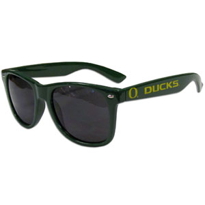 Oregon  Sunglasses - Our collegiate  sunglass feature the school logo and name silk screened on the arm of these great retro glasses.  Thank you for shopping with CrazedOutSports.com