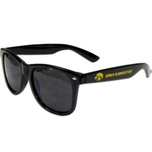 Iowa Hawkeyes Beachfarer Sunglasses - These collegiate Iowa Hawkeyes Beachfarer sunglass feature the school logo and name silk screened on the arm of these great retro glasses.  Thank you for shopping with CrazedOutSports.com