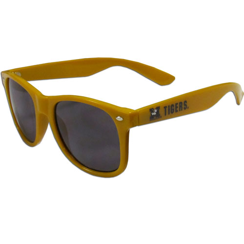 Missouri  Sunglasses - Our collegiate  sunglass feature the school logo and name silk screened on the arm of these great retro glasses.  Thank you for shopping with CrazedOutSports.com
