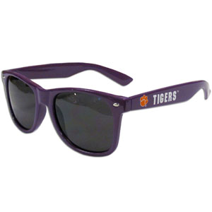 Clemson Tigers  Sunglasses - Our collegiate sunglass feature the team logo and name silk screened on the arm of these great retro glasses.  400 UVA protection. Thank you for shopping with CrazedOutSports.com