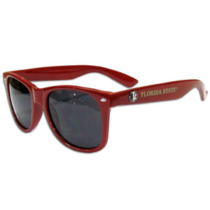 Florida State Seminoles Sunglasses - Our collegiate sunglass feature the Florida State Seminoles logo and name silk screened on the arm of these great retro glasses.  400 UVA protection. Thank you for shopping with CrazedOutSports.com
