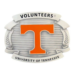 "College Oversized Belt Buckle - Tennessee Volunteers - Our college oversized belt buckle is carved and enameled in team colors. Features fine detailing and distinctive background. Measure 4 x 3 3/8"".  Thank you for shopping with CrazedOutSports.com"