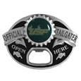 S. Florida Bulls Tailgater Belt Buckle - Quality detail and sturdy functionality highlight this great tailgater buckle that features an inset domed emblem S. Florida Bulls dome logo and functional bottle opener.