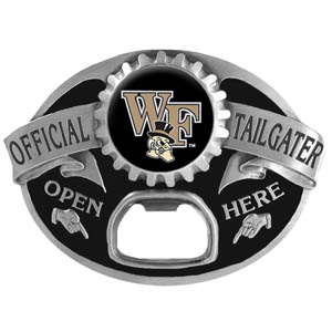 Wake Forest Tailgater  Buckle - Quality detail and sturdy functionality highlight this great tailgater buckle that features an inset team dome logo. Thank you for shopping with CrazedOutSports.com