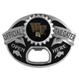 Wake Forest Demon Deacons Tailgater Belt Buckle - Quality detail and sturdy functionality highlight this great tailgater buckle that features an inset domed emblem Wake Forest Demon Deacons dome logo and functional bottle opener.
