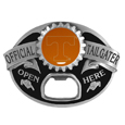 Tennessee Volunteers Tailgater Belt Buckle - Quality detail and sturdy functionality highlight this great tailgater buckle that features an inset domed emblem Tennessee Volunteers dome logo and functional bottle opener.