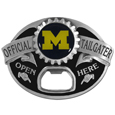 Michigan Wolverines Tailgater Belt Buckle - Quality detail and sturdy functionality highlight this great Michigan Wolverines Tailgater Belt Buckle that features an inset Michigan Wolverines emblem
