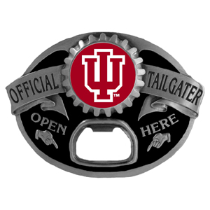 Indiana Hoosiers Tailgater Buckle - Quality detail and sturdy functionality highlight this great Indiana Hoosiers tailgater buckle that features an inset team dome logo. Thank you for shopping with CrazedOutSports.com