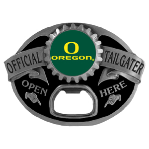 Oregon Ducks Tailgater  Buckle - Quality detail and sturdy functionality highlight this great tailgater buckle that features an inset team dome logo. Thank you for shopping with CrazedOutSports.com
