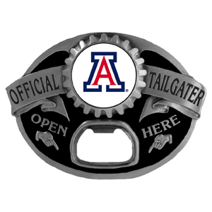 Arizona Wildcats Tailgater  Buckle - Quality detail and sturdy functionality highlight this great tailgater buckle that features an inset Arizona Wildcats team dome logo. Thank you for shopping with CrazedOutSports.com